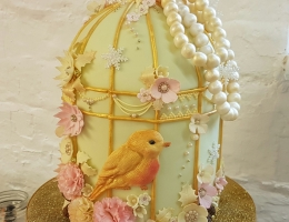 2-Sunday Vintage Bird Cage - Christmas themed