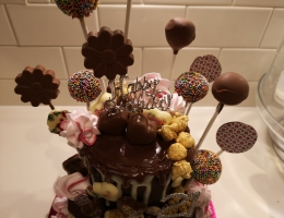 Zoom demonstration - cake pops, lollipops and chocolate sprinkle hearts