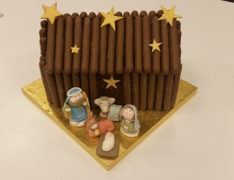 Christmas nativity cake