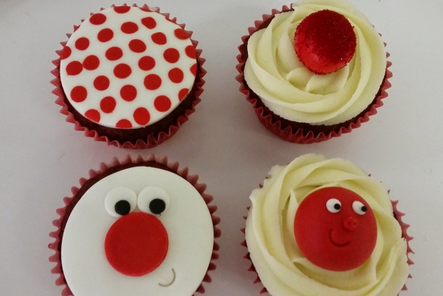 Comic Relief Cupcakes